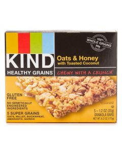 Oats & Honey with Toasted Coconut Healthy Grains Bars, 5-Pack