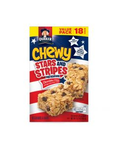 Quaker Chewy Chocolate Chip Granola Bars (18-0.84 Ounce)15.2 Ounce 18 Pack Plastic Bag