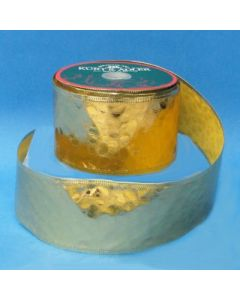"""Kurt S. Adler Gold Embossed Solid Christmas Wired Craft Ribbon 2.5"""" x 10 Yards"""