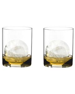 Riedel 0414/02 O Wine Collection Classic Crystal Whiskey Tumbler Glass, Set of 2