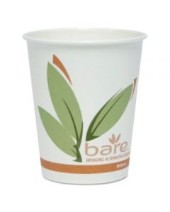 Bare By Solo Eco-forward Recycled Content Pcf Hot Cups, 10 Oz, Green/white/beige, 300/carton