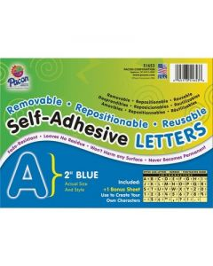 """Pacon Self-Adhesive Letters 2"""" 159 Characters Blue 51653"""