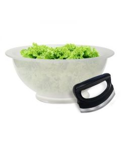 Ronco Salad-O-Matic, Family-Size Bowl and Salad Rocker, Curved Salad Chopper