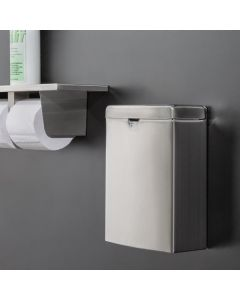 Lavex Janitorial Stainless Steel Wall Mount Sanitary Napkin Receptacle