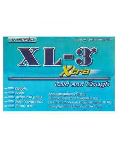XL-3 Xtra Cold and Cough Capsules - 12ct