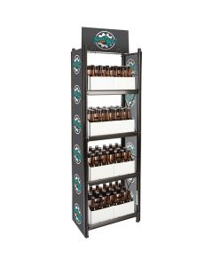 """IRP WR-027 4-Shelf Beer and 6-Pack Display Rack - 20"""" x 11"""" x 62"""""""