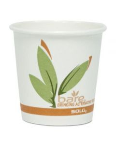 Bare By Solo Eco-forward Recycled Content Pcf Paper Hot Cups, 10 Oz, Green/white/beige, 1,000/carton