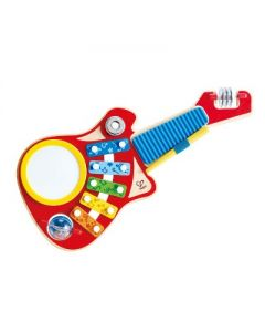 Hape 6-in-1 Music Maker Colorful Guitar Shaped Musical Toy Instrument for Kids Toddlers Ages 18 Months Old and Up