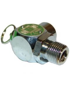 """All Points 56-1338 30 PSI Chrome Steam Safety Relief Valve - 1/2"""" NPT"""