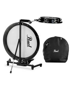 Pearl Compact Traveler 2-Piece Drum Kit with Bag Black