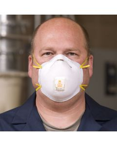 3M 8211 N95 Particulate Respirator with Cool Flow Valve and Foam Face Seal - 10/Pack