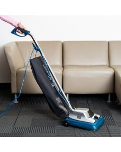 """Lavex Janitorial 12"""" Upright Bagged Vacuum Cleaner with HEPA Filtration"""