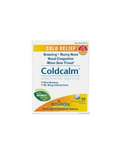 Boiron Coldcalm Cold Relief Homeopathic Dissolve Tablets - 60ct
