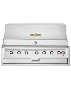 """Crown Verity IBI42NG Infinite Series Natural Gas 42"""" Built-In Grill with Roll Dome, Bun Rack, Custom Fitted Cover, and Regulator - 84,000 BTU"""