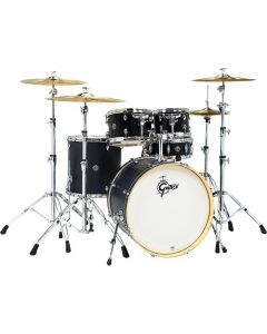 """Gretsch Drums Catalina Special Edition Birch 5-Piece Shell Pack with 22"""" Bass Drum Ebony Satin"""